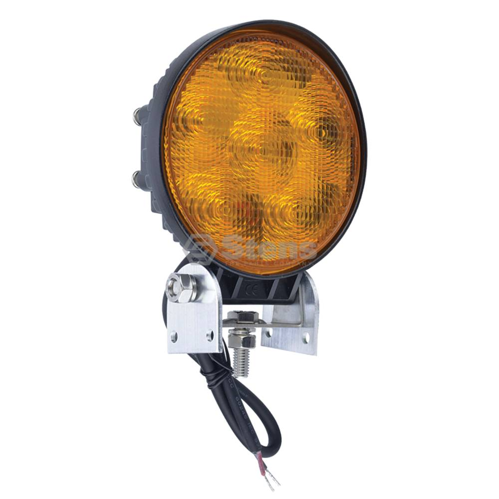 "Work Light 12-24 Volt, 4-1/2"" Round, 6 LED, Amber, Flood / 3000-2142"