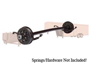 "7000 Lb Axle 8 on 6.5"" Hydraulic Freebacking 4"" Drop w.EZ Lube / D70865HFB-4D-ZL"