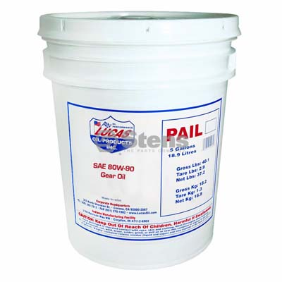 SAE 80W-90 Gear Oil 5 Gallon Pail for Lucas Oil 10066 / 051-501