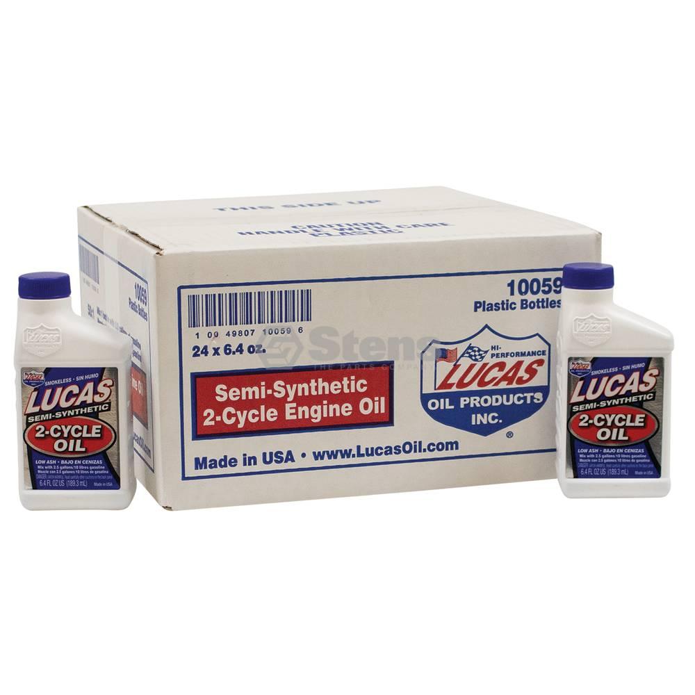 Lucas 2-Cycle Oil Semi-Synthetic, Twenty-Four 6.4 oz. Bottles / 051-515