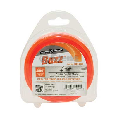 "Buzz Trimmer Line .080"", 50', Clam Shell / 380-200"