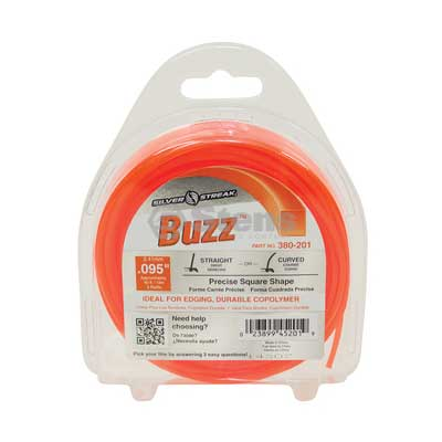 "Buzz Trimmer Line .095"", 40', Clam Shell / 380-201"
