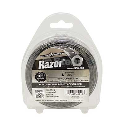 "Razor Trimmer Line .105"", 30', Clam Shell / 380-903"
