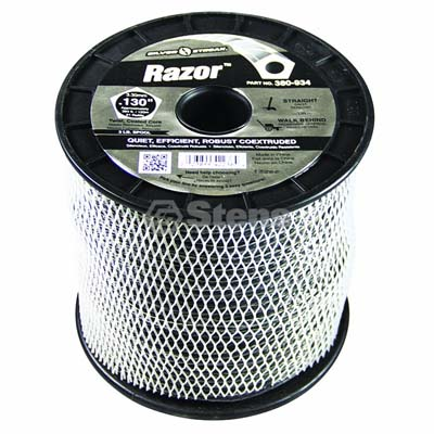 "Razor Trimmer Line .130"", 3 lb. Spool / 380-934"