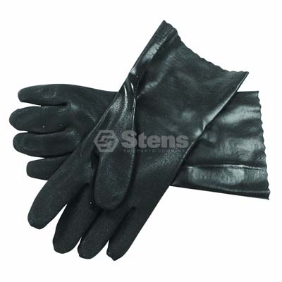 Large Black Double Dipped PVC Glove / 751-030