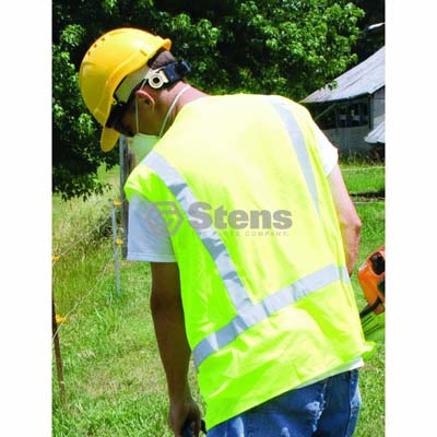 Class 2 Lime XL Safety Vest Hook and Loop Closure / 751-737