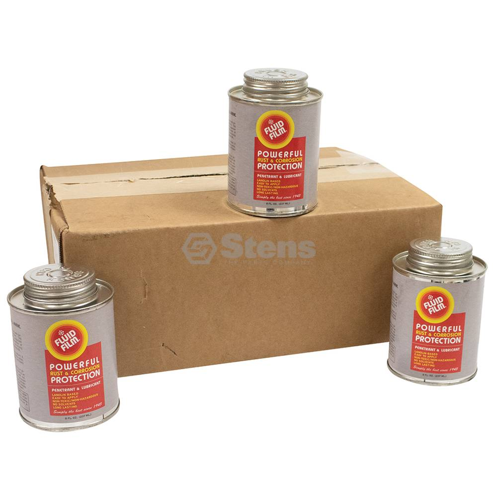 Fluid Film Rust and Corrosion Protection 12 x 8 oz. cans with brush / 752-106