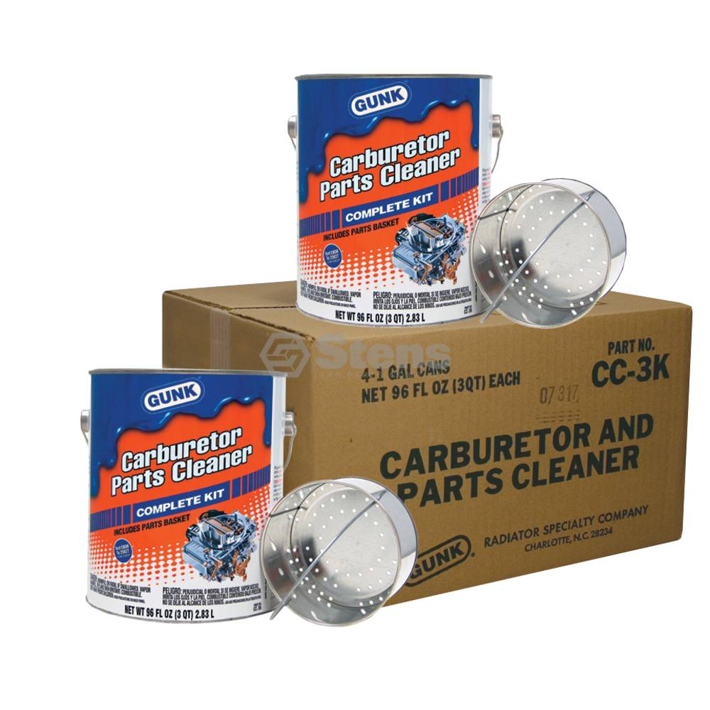 Gunk Carburetor and Parts Cleaner Four 1 Gallon Cans / 752-300