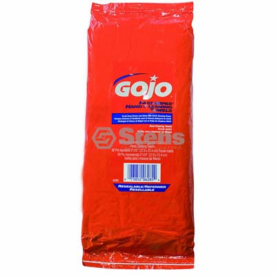 Gojo Fast Wipes Hand Cleaner 60 CT. Too lbox Pack / 752-948