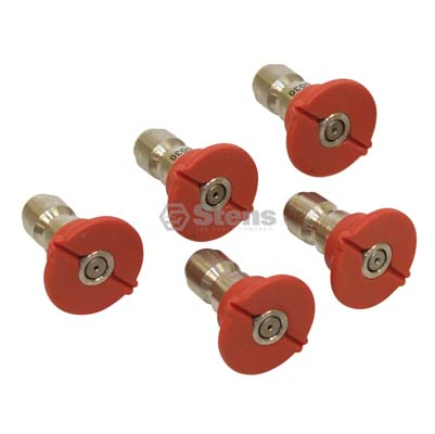 Quick Coupler Nozzle 0 Degree, Size 3.0, Red / 758-900