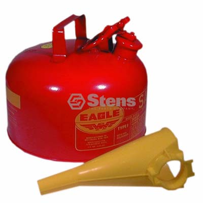 Metal Safety Fuel Can Eagle 2 Gallon With Funnel / 765-184