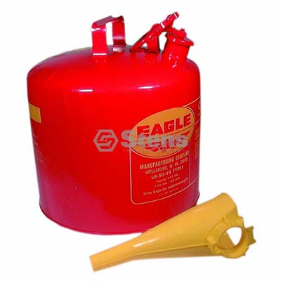 Metal Safety Fuel Can Eagle 5 Gallon With Funnel / 765-188