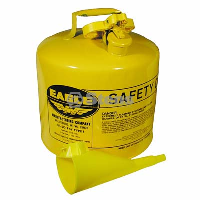 Metal Safety Diesel Can Eagle 5 Gallon with Funnel / 765-200