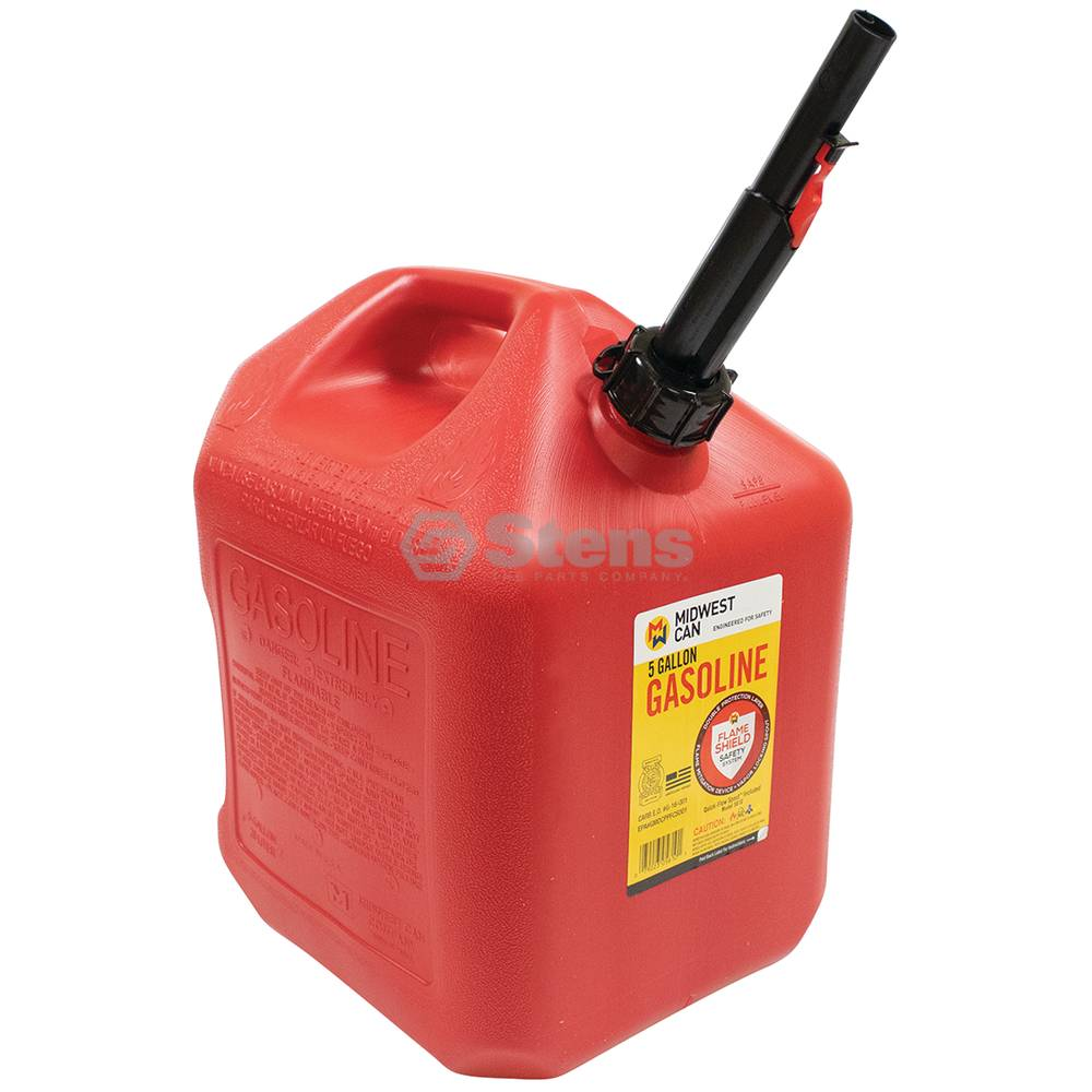 Stens 5 Gallon Plastic Gasoline Fuel Can / 765-514