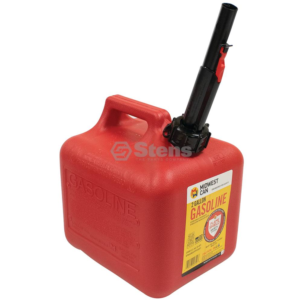 Stens 2 Gallon Plastic Gasoline Fuel Can / 765-516