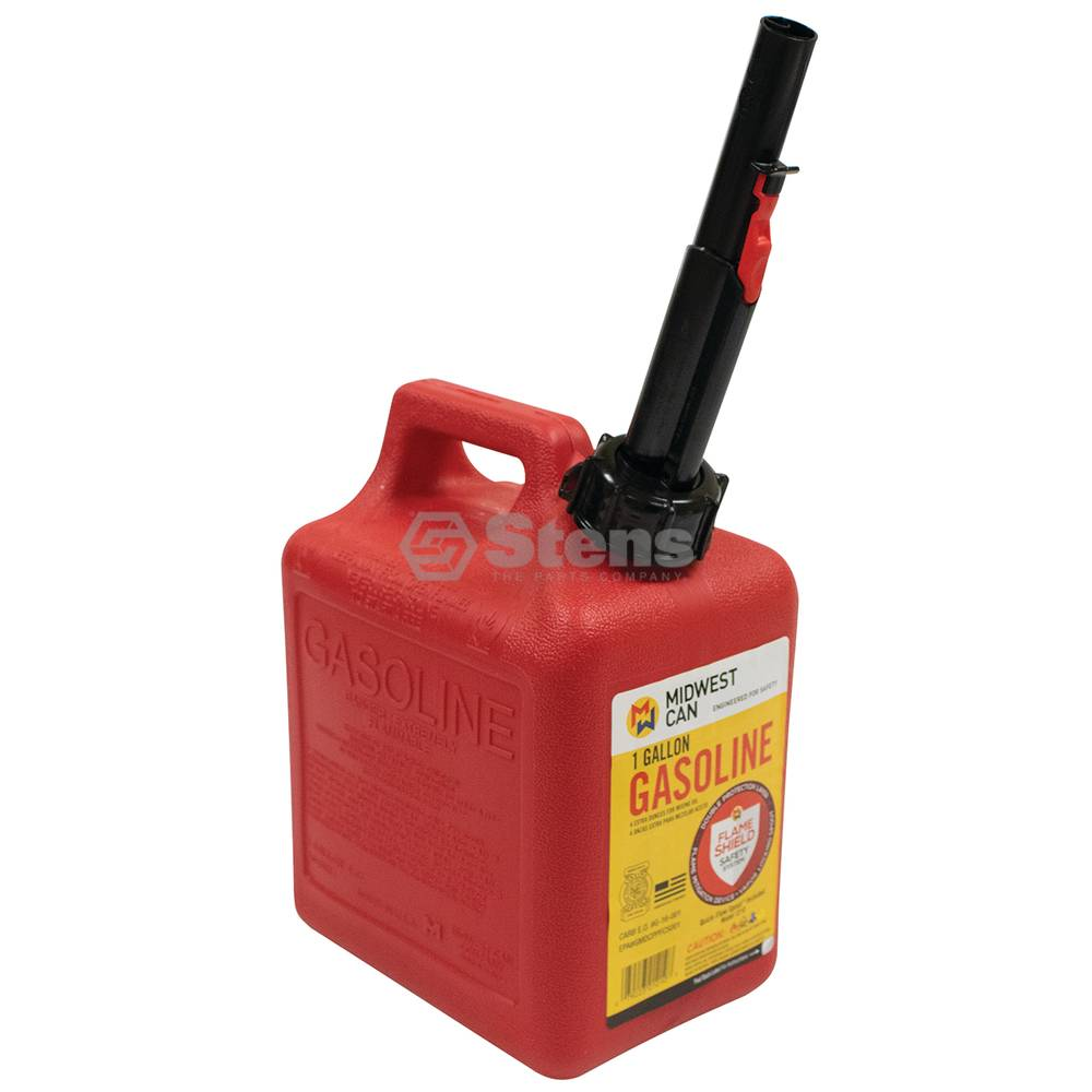 Stens 1 Gallon Plastic Gasoline Fuel Can / 765-518