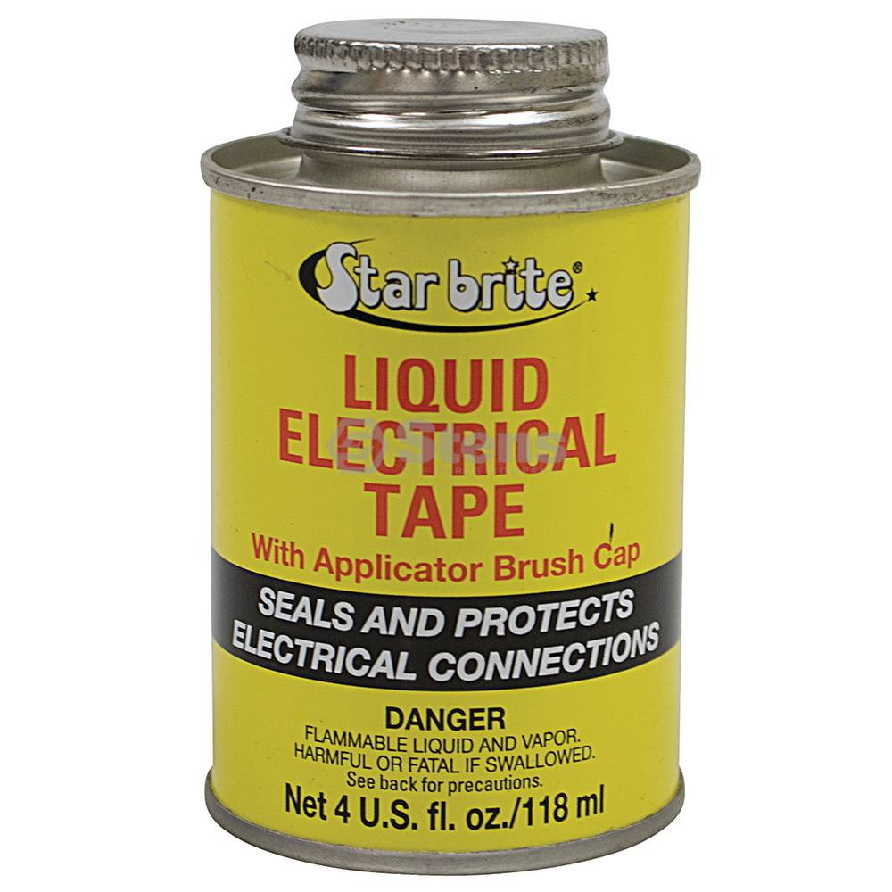 Stens StarBrite Liquid Electrical Tape Black Color, 4 oz. Can / 770-034