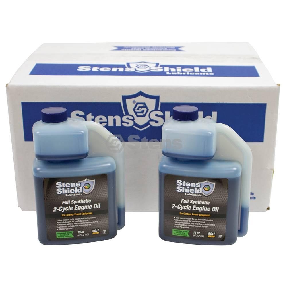 Stens Shield 2-Cycle Engine Oil 50:1,Twelve 16 oz. bottles / 770-160
