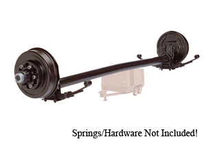 "6000 Lb Axle 6 on 5.5"" Hydraulic Freebacking 4"" Drop w. EZ Lube / D60R655HFB-4D-ZL"