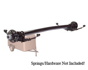 """6000 Lb Axle H.Duty 6 on 5.5"""" Electric Straight w.Nev-R-Lube / D60655E-ST-NL"""