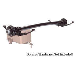 "6000 Lb Axle 6 on 5.5"" Hydraulic Freebacking Straight w.EZ Lube / D60655HFB-ST-ZL"