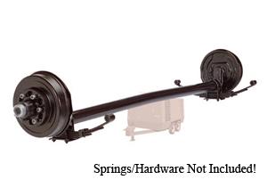 "6000 Lb Axle 8 on 6.5"" Hydraulic Freebacking 4"" Drop w.Oil Bath / D60865HFB-4D-OIL"