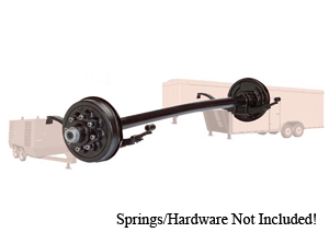 7000 Lb Axle RD. UTG 5-Spoke Hydraulic Freebacking Straight / D70UTGHFB-ST