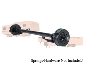 """8000 Lb Axle 8 on 6.5"""" Electric Straight w.Nev-R-Lube, 9/16"""" Stud"""