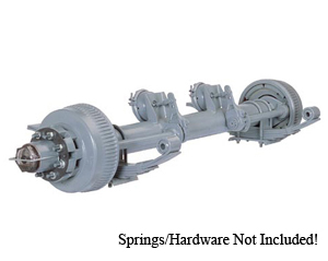 "10000 Lb Axle 8 on 6.5"" Hyd. Duo Servo Straight w.ABS, No Springs / D10K865HABS-NSPR"