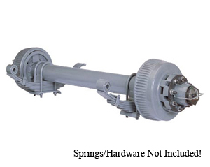 "12000 Lb Axle HP. 8 on 6.5"" Hydraulic Disc Straight, No Springs / D12K865DABS-NSPR"