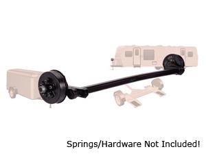 "3500 Lb #10 Torflex Axle 5 on 4.5"" Idler w.Brake Flanges / D10TA35-545I"