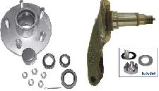 3.5K Flexride Spindle Arm FA-35 with Hub Assembly 545-#84 & Bearing Kit - Galvanized & EZ-LUBE Caps - Complete Kit - One Side