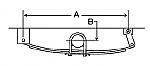 """Single Axle Hanger Kit for 1-3/4"""" and 2"""" Sliper Springs / APS3SE"""