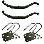 "2 x 2000 LB 4L Slipper Leaf Springs 25-7/8""L w.U-Bolt Kit / 2-803T3-AH"